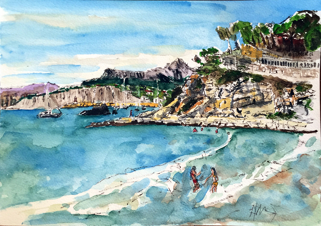 Moraira El Portet, Anthony Lancaster, Watercolor