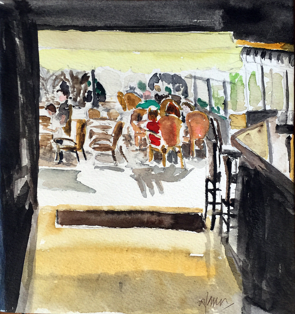 Moraira La Bohême, Anthony Lancaster, Watercolor