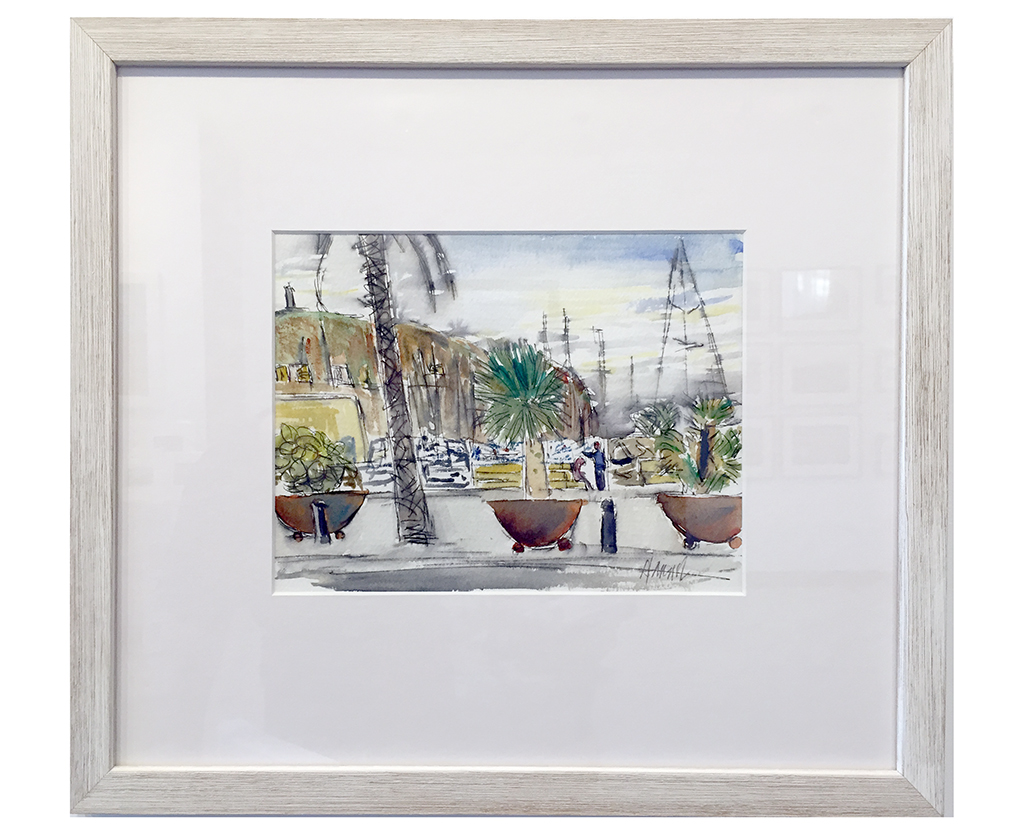 Moraira Marina, Anthony Lancaster, Watercolor